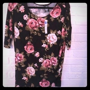 Small Dolman Tunic in Blush Floral by Agnes & Dora